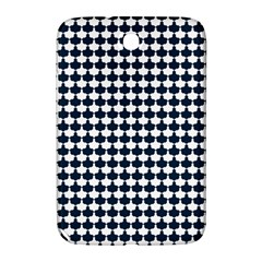 Navy And White Scallop Repeat Pattern Samsung Galaxy Note 8.0 N5100 Hardshell Case