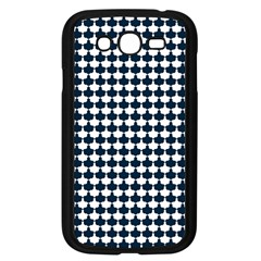 Navy And White Scallop Repeat Pattern Samsung Galaxy Grand DUOS I9082 Case (Black)