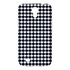 Navy And White Scallop Repeat Pattern Samsung Galaxy Mega 6 3  I9200 Hardshell Case