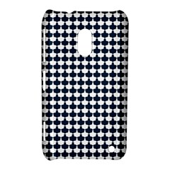 Navy And White Scallop Repeat Pattern Nokia Lumia 620