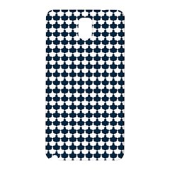 Navy And White Scallop Repeat Pattern Samsung Galaxy Note 3 N9005 Hardshell Back Case
