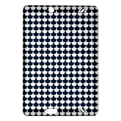 Navy And White Scallop Repeat Pattern Kindle Fire Hd (2013) Hardshell Case