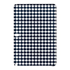 Navy And White Scallop Repeat Pattern Samsung Galaxy Tab Pro 12.2 Hardshell Case