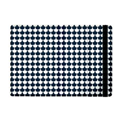 Navy And White Scallop Repeat Pattern iPad Mini 2 Flip Cases