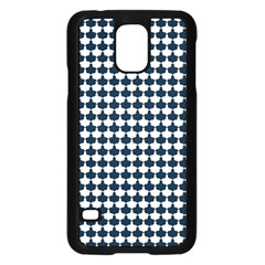 Navy And White Scallop Repeat Pattern Samsung Galaxy S5 Case (Black)