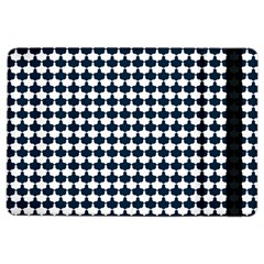 Navy And White Scallop Repeat Pattern Ipad Air 2 Flip