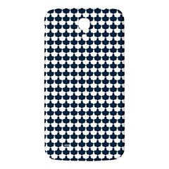 Navy And White Scallop Repeat Pattern Samsung Galaxy Mega I9200 Hardshell Back Case