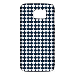 Navy And White Scallop Repeat Pattern Galaxy S6