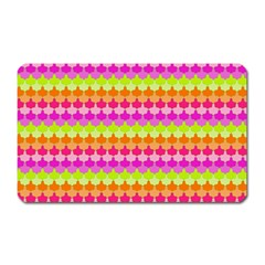 Scallop Pattern Repeat In 'la' Bright Colors Magnet (Rectangular)