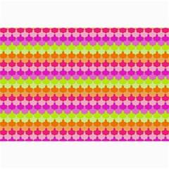 Scallop Pattern Repeat In 'la' Bright Colors Collage 12  x 18