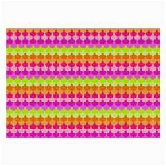 Scallop Pattern Repeat In 'la' Bright Colors Large Glasses Cloth