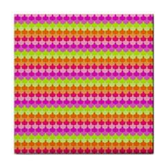 Scallop Pattern Repeat In 'la' Bright Colors Face Towel