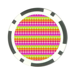 Scallop Pattern Repeat In 'la' Bright Colors Poker Chip Card Guards (10 pack)
