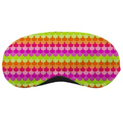 Scallop Pattern Repeat In 'la' Bright Colors Sleeping Masks