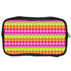 Scallop Pattern Repeat In 'la' Bright Colors Toiletries Bags 2-Side