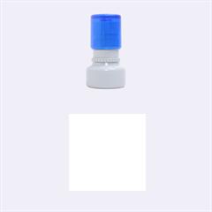 Scallop Pattern Repeat In 'la' Bright Colors Rubber Round Stamps (Small)