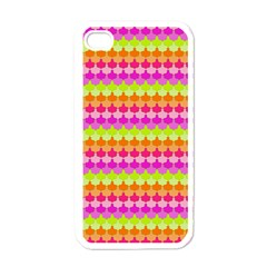 Scallop Pattern Repeat In 'la' Bright Colors Apple iPhone 4 Case (White)