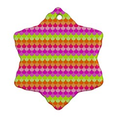 Scallop Pattern Repeat In 'la' Bright Colors Ornament (Snowflake)