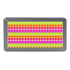 Scallop Pattern Repeat In 'la' Bright Colors Memory Card Reader (mini)