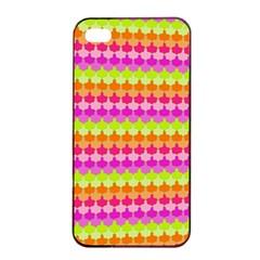 Scallop Pattern Repeat In 'la' Bright Colors Apple iPhone 4/4s Seamless Case (Black)