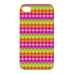 Scallop Pattern Repeat In 'la' Bright Colors Apple iPhone 4/4S Hardshell Case