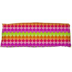 Scallop Pattern Repeat In 'la' Bright Colors Body Pillow Cases (Dakimakura)