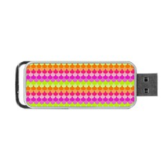 Scallop Pattern Repeat In 'la' Bright Colors Portable USB Flash (One Side)