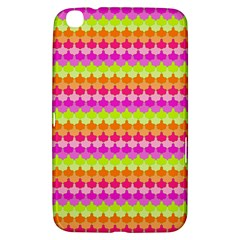 Scallop Pattern Repeat In 'la' Bright Colors Samsung Galaxy Tab 3 (8 ) T3100 Hardshell Case