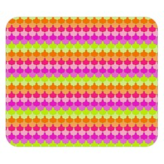 Scallop Pattern Repeat In 'la' Bright Colors Double Sided Flano Blanket (small)