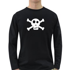 Skull & Crossbones Long Sleeve Dark T Shirts