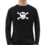 Skull & Crossbones Long Sleeve Dark T-Shirts Front
