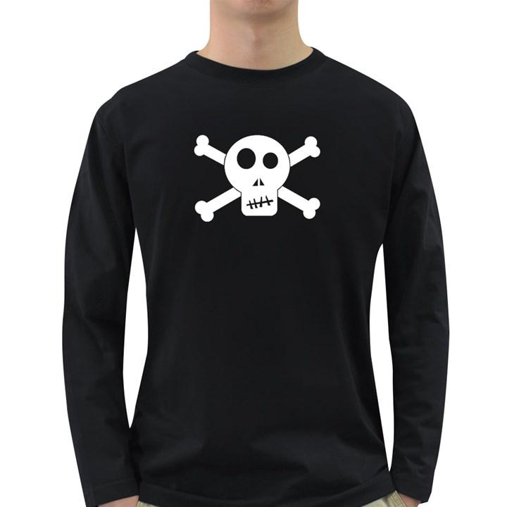Skull & Crossbones Long Sleeve Dark T-Shirts