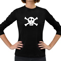 Skull & Crossbones Women s Long Sleeve Dark T Shirts