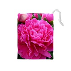 PAEONIA ELEANOR Drawstring Pouches (Medium)