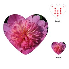 PAEONIA CORAL Playing Cards (Heart)