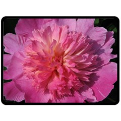 PAEONIA CORAL Double Sided Fleece Blanket (Large)