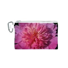 PAEONIA CORAL Canvas Cosmetic Bag (S)