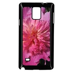 PAEONIA CORAL Samsung Galaxy Note 4 Case (Black)