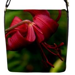 LILIUM RED VELVET Flap Messenger Bag (S)