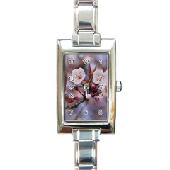 CHERRY BLOSSOMS Rectangle Italian Charm Watches