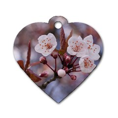 CHERRY BLOSSOMS Dog Tag Heart (Two Sides)