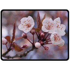 CHERRY BLOSSOMS Double Sided Fleece Blanket (Large)