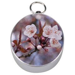 CHERRY BLOSSOMS Silver Compasses