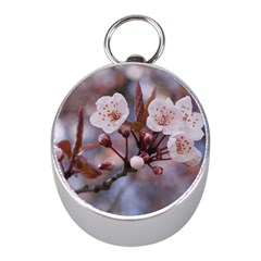 CHERRY BLOSSOMS Mini Silver Compasses