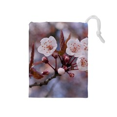 CHERRY BLOSSOMS Drawstring Pouches (Medium)