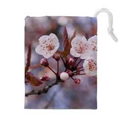 CHERRY BLOSSOMS Drawstring Pouches (Extra Large)