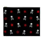 Stars, Skulls & Crossbones Cosmetic Bag (XL) Front