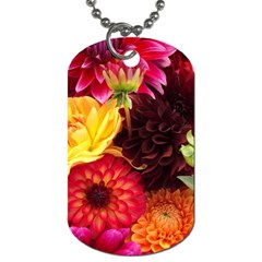 BUNCH OF FLOWERS Dog Tag (Two Sides)