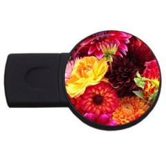 BUNCH OF FLOWERS USB Flash Drive Round (2 GB)