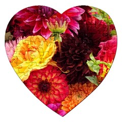 Bunch Of Flowers Jigsaw Puzzle (heart)